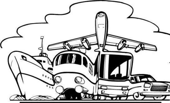 卡通火车司机简笔画